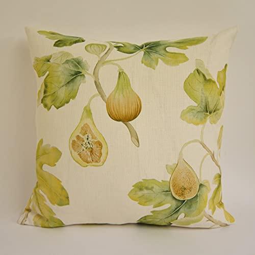 Sanderson Harvest Fig - Garden Green - Funda de cojín para cojín