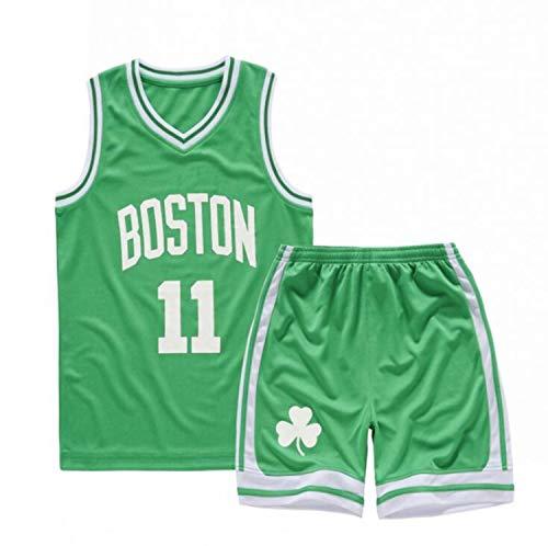 YCJL Camiseta De Baloncesto NBA Jersey # 11 Boston Celtics Camiseta Y Pantalones Cortos De Baloncesto Traje De Jersey para Niños, Traje Deportivo De Malla Transpirable,L:140~150cm
