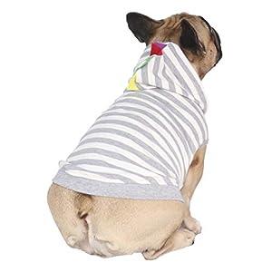 iChoue Dinosaur Dog Costumes Hoodie Sleeveless Clothes Shirt Pullover for French Bulldog Frenchie Corgi Puppy -Grey Dinosaur/S