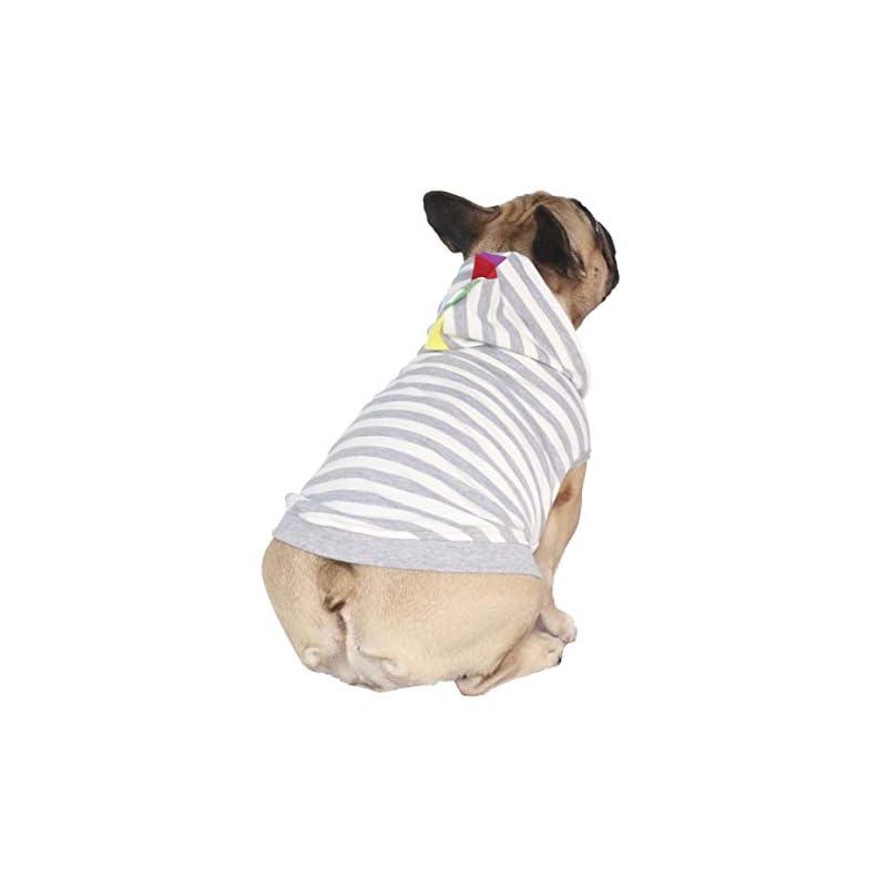 dog supplies online ichoue dinosaur dog costumes hoodie sleeveless clothes shirt pullover for french bulldog frenchie corgi puppy -grey dinosaur/s