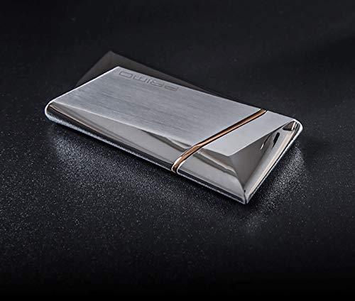 Eléctrico Encendedor, Alambre de calefacción Inteligente Sensor de Gravedad Electrónico USB Recargable A Prueba de Viento Sin Llama Bobina Navidad Regalo de los Hombres, Agitar a la luz (Plata)