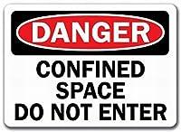 装飾サイン家の装飾プラーク、インチ、危険サイン限られたスペースは、屋内と屋外に簡単に取り付けられるプロのグラフィックで印刷されたブリキのサインを入れないでください