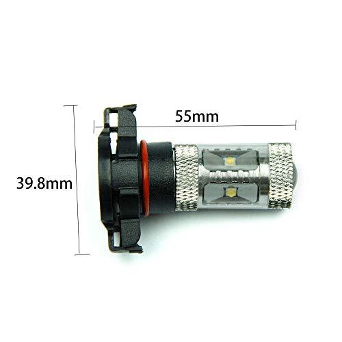 2 x H16 P16 W / Psx24 W 30 W Faro de LED 12 V antiniebla para coche