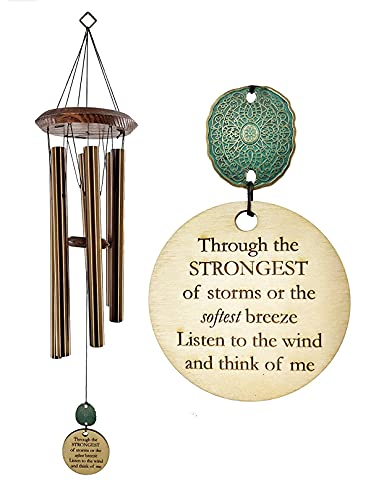 Christmas Arrival Memorial DIRECT SHIPPING Gift Wind Chime PCP 28 Inch In Sympathy loss Copper in Memory of Loved One Listen to the Wind Memorial Garden Gift by Weathered Raindrop
