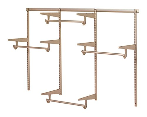 Closet Culture by Knape & Vogt Culture 6 ft. Steel Closet Hardware Kit in Champagne Nickel Shelving