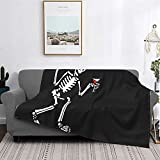 Social Distortion Skeleton Blanket Super Soft Throw Blankets Warm All Season Lightweight Blankets for Office Couch and Bedroom