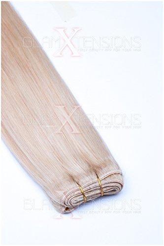 Weft Echthaartresse glatt 100% indisches Echthaar 60cm Haarverlängerung Extensions