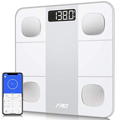 Bathroom Scale, Digital Scale for Body Weight, Bluetooth Body Fat Scale Tracks 14 Compositions, Smart Wireless BMI Scale Body Analyzer with Smartphone App, Large LCD Backlit, 396Lb