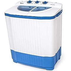 tectake 4,5 kg Mini Mini Tvättmaskin + 3,5 kg Tvätt sling Kombination