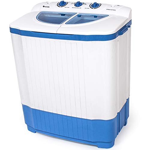 TecTake Combinación Mini Lavadora portátil (Capacidad 4,5kg) + Secadora centrifugadora de 3,5 kg