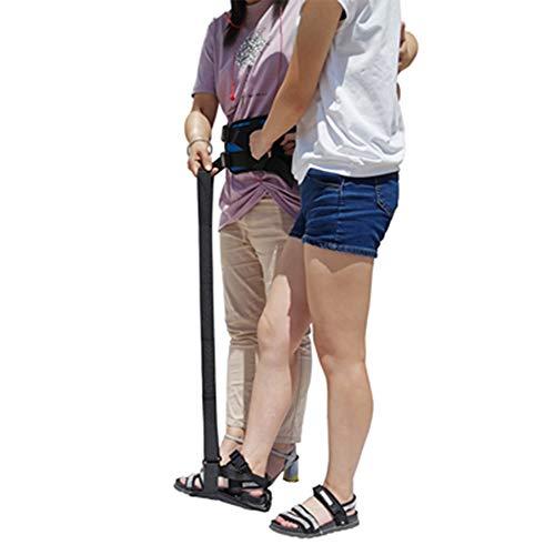 ZHYJJ Beinhebergurt mit Fußbügel und Handgriff, mit Hüftgurt Beinheber für behinderte, ältere Physiotherapie (schwarz)
