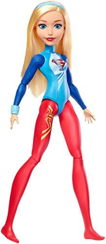 DC Super Hero Girls Poupée Gymnaste articulée Supergirl de 30 cm blonde avec tenue peinte, jouet enfant, FJG64