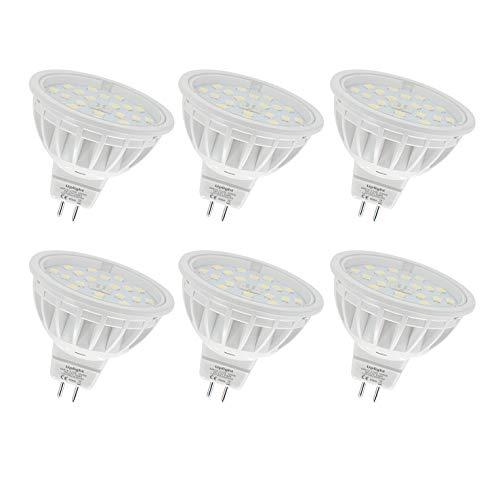 Uplight 5.5W MR16 Lampadina LED GU5.3 Faretti,Bianco Caldo 3000K,Equivalente 50-60W,600LM DC12V Ra85,6 Pezzi.