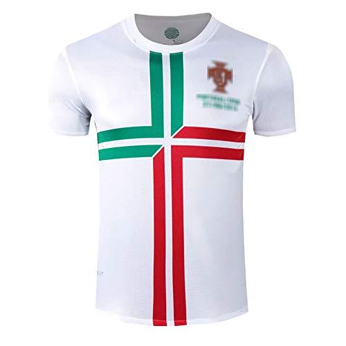 MRRTIME Camisetas de fútbol para Hombres Retro, 2010 Portugal Jersey de fútbol Vintage, Uniforme de fútbol para Hombres, Ropa de fútbol Camisetas de fútbol para Aficionados Camisetas-Away-L
