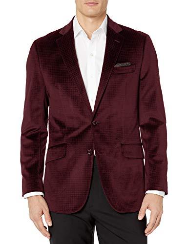 Billy Reid Men's Standard Fit Two Button Single Breasted Dylan Sportcoat, Navy/Wine, 42R