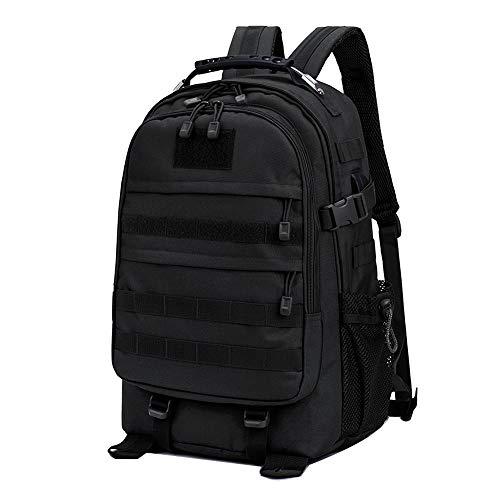 Neuleben Militär Taktischer Rucksack Wanderrucksack mit USB Ladeport Daypack Groß Wasserdicht Herren Damen 40 Liter für Outdoor Wandern Alltag Reise (Schwarz)