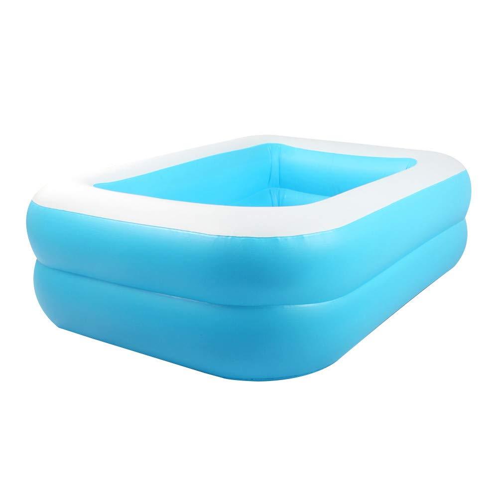 KKTECT Piscina de Juegos inflables Piscina Inflable para niños Juguete de pulverización de Agua de jardín de Juego al Aire Libre de Verano Niños Summer Water Fun Play (128cm x 85cm x