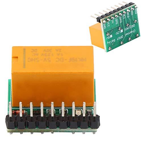 Polarité du module de relais, Module de relais de retard 5VDC, changement de direction du moteur à courant continu Carte de relais Commande intelligente Polarité des bornes de sortie 5 e
