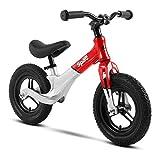 Bicicleta de entrenamiento ligera para niños de 1 a 4 años, versión deportiva de 12 pulgadas, color: negro rojo rosso