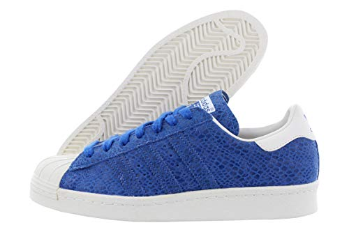 adidas Women's Superstar 80s W Originals Basketball Shoe (9.5 B(M) US, surf Blue/surf Blue/Chalk White)