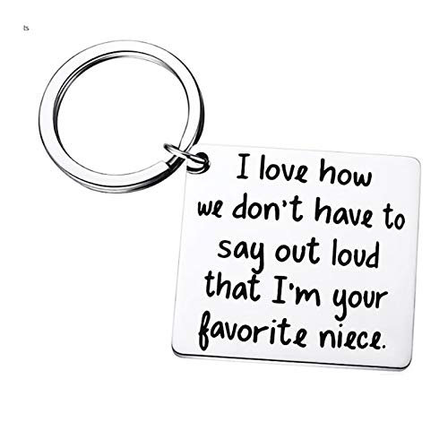 Niece Christmas Gifts Keychain - Niece Jewelry Graduation Birthday Christmas Gifts for Niece from Aunt Uncle