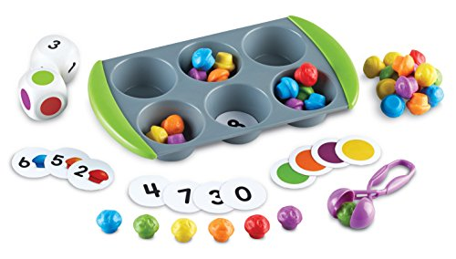 Learning Resources Mini Muffin Match Up Counting Toy Set, 76 Pieces