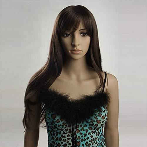 PassBeauty W3281 Nawomi Perruque de cheveux longs pour femme Marron foncé