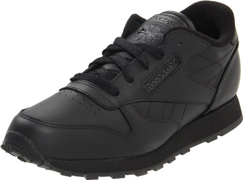 Reebok Reebok Classic Leather Shoe,Black/Black/Black,4 M US Toddler