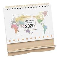 卓上カレンダー2019-2020、オフィススケジュール、木製小カレンダー、G02