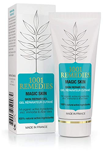 1001Remedies Crema Antimanchas Facial - Acne Tratamiento, Anti Acne Gel Aloe Vera Con Arbol de Té y 14 Aceites Esenciales - Antimanchas Facial y Corporal, 100% Natural y sin Parabenos