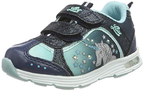 Lico Unicorn V Blinky Mädchen Sneaker, Marine/ Türkis, 28 EU
