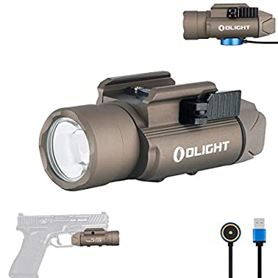 OLIGHT PL-PRO Valkyrie 1500 Lumens NW LED Magnetic Rechargeable Tactical Flashlight with Adjustable Adapter, Built-in Battery and SKYBEN Battery Case(Desert Tan)