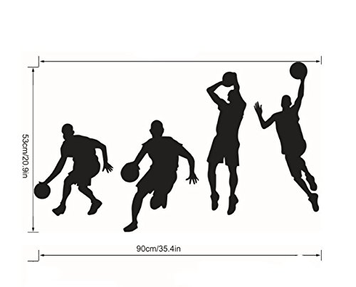 Madaye Basketball Spieler tröpfeln dunk Wandsticker Schlafzimmer Dekoration Aufkleber Wand-Aufkleber
