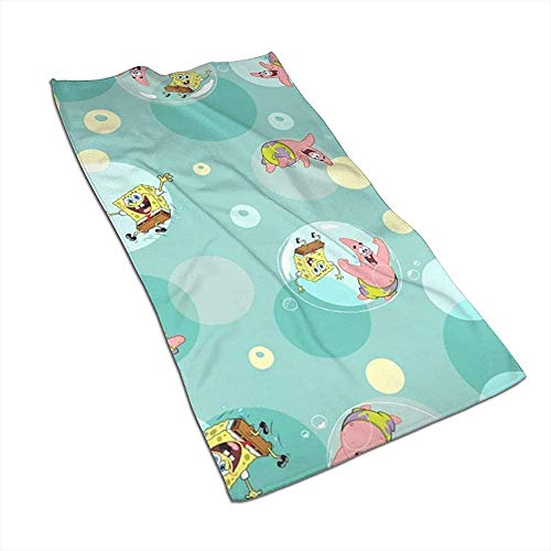 SpongeBob und Patrick Soft Super Absorbent sneldrogende handdoek badhanddoek strandlaken - 27,5 x 17,5 inch