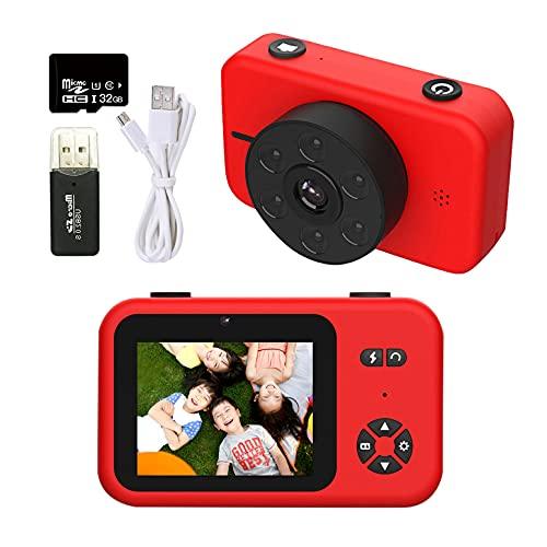【2021年最新版 5000万画素】RONHAN 子供用 デジタルカメラ トイカメラ 子供用カメラ キッズカメラ 4KフルHD 2.4インチIPS画面 6LEDランプ搭載 USB充電 MP3 写真 動画 連写 タイマー撮影 耐衝撃性 操作簡単 ミニカメラ