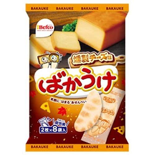 栗山米菓 ばかうけ 燻製チーズ味 2枚×8袋×12入