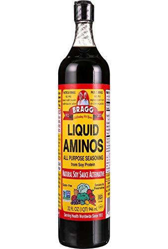 Bragg Liquid Aminos All Purpose Seasoning – Soy Sauce Alternative – Gluten Free, No GMO's, Kosher Certified, 32 ounce