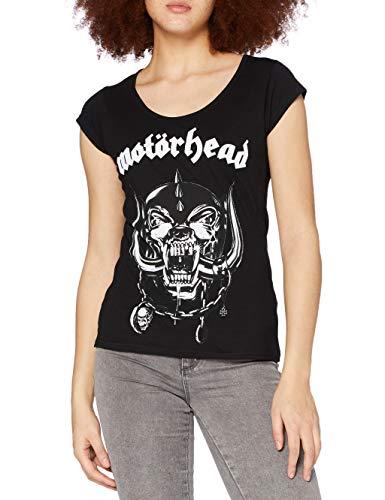 MERCHCODE Motörhead T-Shirt pour Femme avec Logo imprimé M Noir