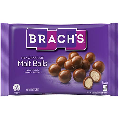 Brach's Malt Balls, Milk Chocolate, 10 ounce - Pack of 6