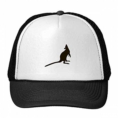 DIYthinker Schwarz Känguru Tier Portrayal Trucker-Mütze Baseballmütze Nylon Mütze Kühle Kind-Hut-Justierbare Kappe Geschenk Kinder