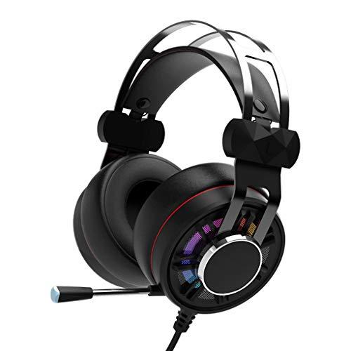 Liutao Casque de Jeu avec Casque stéréo 3,5 mm avec Microphone à Suppression de Bruit et contrôle du Volume pour Casque de Jeu pour oreillette pour PC (Color : Multi-Colored)