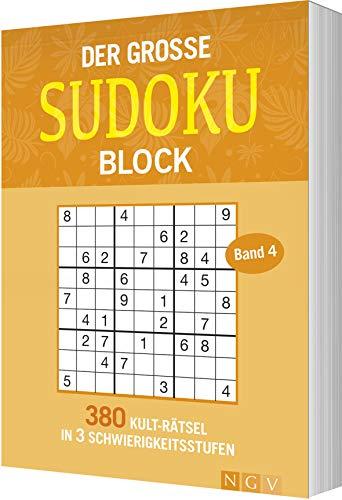 Der große Sudokublock Band 4: 380 Kulträtsel in 3 Schwierigkeitsstufen