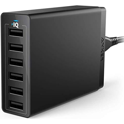 Anker PowerPort 6 EU Black PowerPort 6, Indoor, AC, 5 V, A2123L12 (PowerPort 6, Indoor, AC, 5 V, Black)