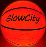 GlowCity LED Light-Up Basketball – Size 5, 27.5 inch, Ideal for Youth & Pre-Teen Night Games – Impact Activated Glow-in-The-Dark Fun, Nylon Wound Durability, Batteries Included