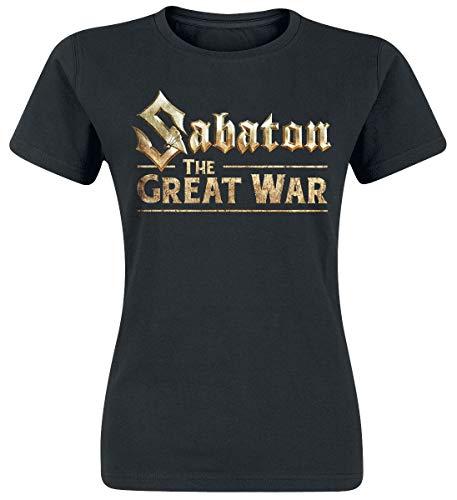 Sabaton The Great War Frauen T-Shirt schwarz L 100% Baumwolle Band-Merch, Bands, Nachhaltigkeit