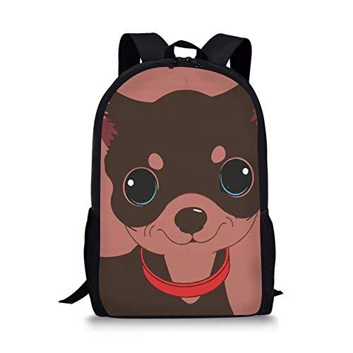 Schooltas 3D Goed gedragen Hond Beeld Gedrukt Mode Rugzak Voor Tieners Jongens Meisjes Boekentassen Vrouwen Mannen Unisex Reizen Laptop Kleuterschool Rugzak