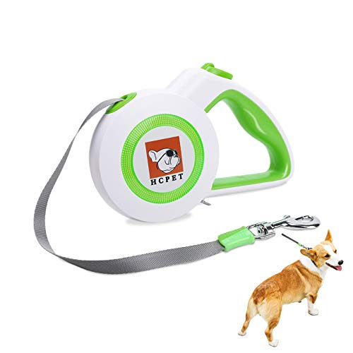 Hcpet Dog Training Leash, 16.4ft Automatic Dog Pet Supplies Small and Medium Sized Dog Leash, Pet Retractable Leash (Green-Leash)