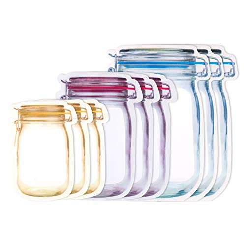 FANTESI 30 Pcs Mason Jar Bottles Bags, 3 Size Food Storage Bag Snack...