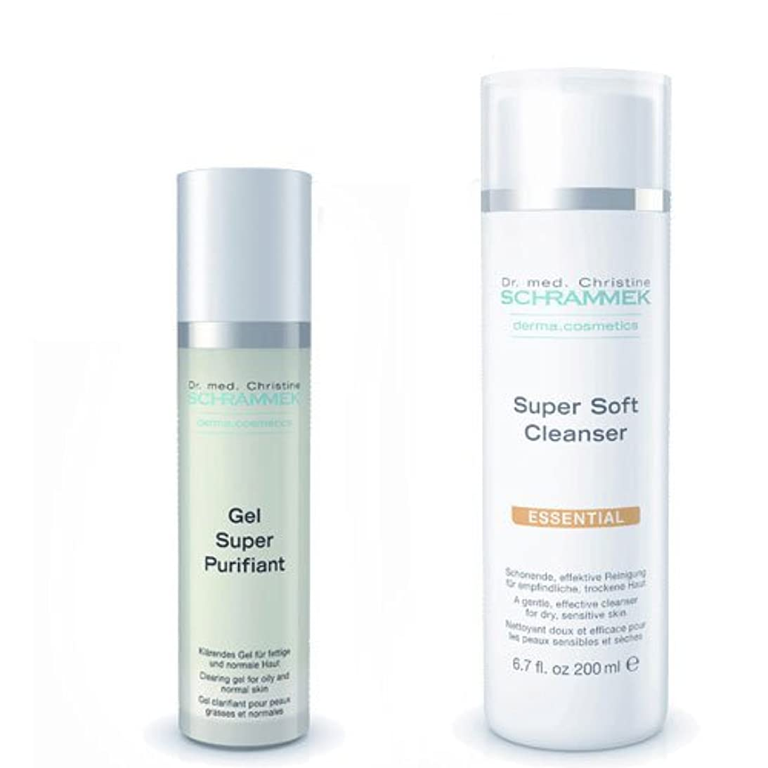 試用懐疑論望ましいシュラメック 「GREEN PEEL 洗顔2点セット(ノーマル肌?敏感肌?乾燥肌用)」 スーパーソフトクレンザー&ジェルスーパーピュリフィアント