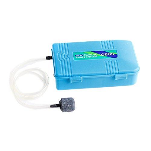 SimpleLife draagbare zuurstof-bakup voor pomp, met luchtvijver, werkt op batterijen, pantser voor aquarium